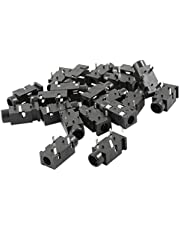 uxcell 20 Pcs PCB Mount 3 Pin 3.5mm Female Audio Jack Socket Connector