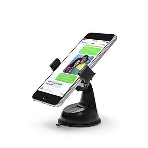Power Theory KFZ Halterung mit Gratis 3M Klebepad für Armaturenbrett Universal Handyhalterung Auto Handy Halter Apple iPhone 6s 6 plus SE 5 5s 5c 4 4s Samsung Galaxy S7 S6 Edge S5 S4 S3 Smartphone (Schwarz)