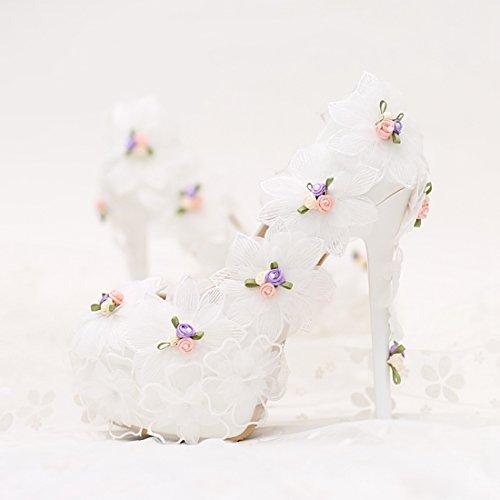 Alusta Pumput Kantapää Valkoinen Piilotettu 14cm Naisten Kukkia Korkealla Piikkikorot Morsiamen Minishion tCWTwPqa