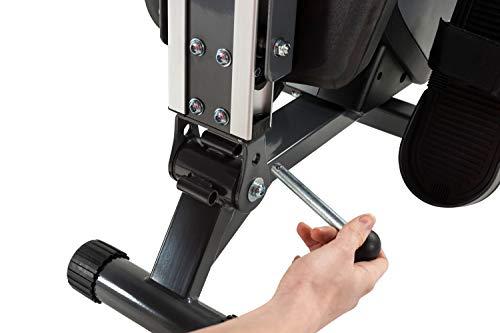 Tunturi Cardio Fit R30 Máquina de remo para casa / Rower – Plegable y con computadora de Entrenamiento