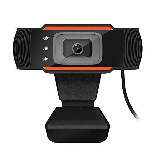 Clase neta para estudiantes en la oficina en el hogar Camara de video HD microfono incorporado con absorcion de sonido camara web Video USB Alta definicion con 12.0M pixeles Enfoque automatico