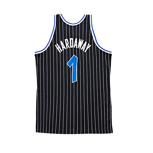 - Tyusdva Mens Hardaway Jersey Orlando Adult #1 Penny Anfernee Basketball Sizes Black (Black, Large)