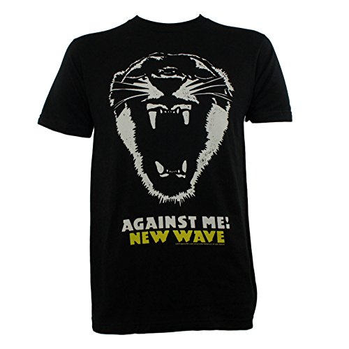 AGAINST ME Band New Wave Album Cover Tiger Slim Fit T-Shirt (New Wave Tiger)