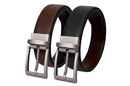 SCHARF Reversible Stitched Vegan Leather Belt for Men