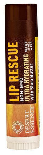 Desert Essence Lip Rescue Ultra Hydrating with Shea Butter -- 0.15 oz - 2pc