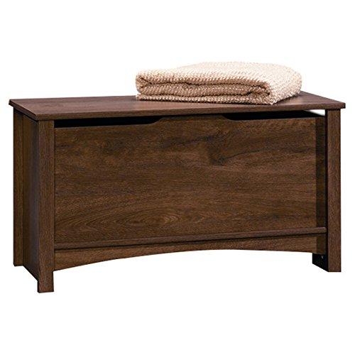 Oak Blanket Chest - Shoal Creek Blanket Storage Chest in Oiled Oak Finish