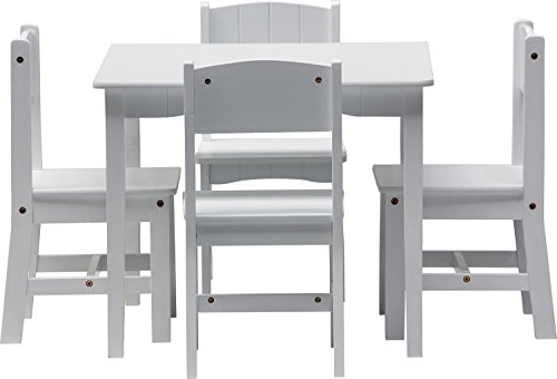 IB Style   Childrenu0027s Seating Area ENZO White   5 Pieces   4 Chairs + 1  Table   Children Table And Chairs Set Nursery Furniture Kids: Amazon.co.uk:  Kitchen ...