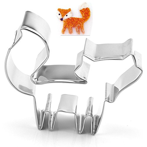 GXHUANG Cute Fox Cookie Cutter - Stainless Steel,for Holiday Anniversary Birthday Party