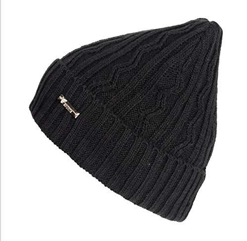 Loritta Mens Winter Hats Knit Fleece Slouchy Beanie Warm Thick Twisted Skull Caps