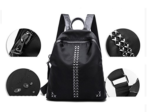 LAIDAYE Oxford Nylon Bolso De Hombro Impermeable Willow Mochila Casual Damas Bolsa Mochila Black
