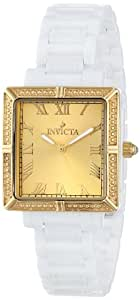 Invicta Women's 14902 Ceramics Gold Dial White Ceramic Watch
