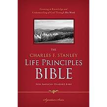 NASB, The Charles F. Stanley Life Principles Bible, Hardcover