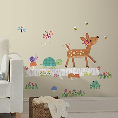 RoomMates RMK2776GM Woodland Animal Decals