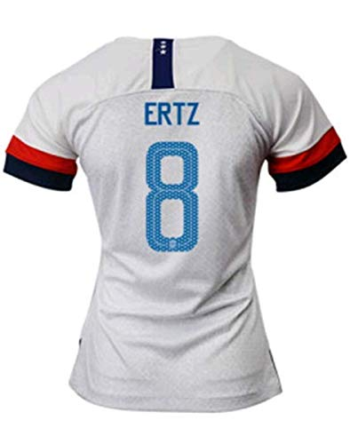 Julie Ertz #8 2019-2020 USA National Team Women's Home Soccer Jersey White (M)