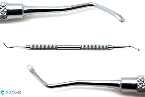 Curettes Bone (Dental Lucas Surgical Bone Curette 85 Double Ended Spoons 2.5mm Stainless Steel Instruments)