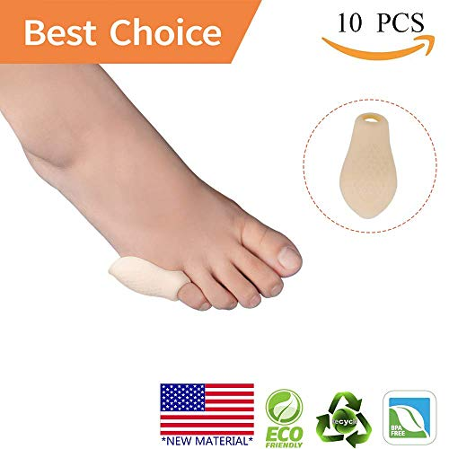Pinky Toe Protector Bunion Corrector *New Material* Gel Little Toe Separator bunionette Cushion Sleeve Splint for Overlapping Toe, Pinky Hammer Toes. by Pnrskter