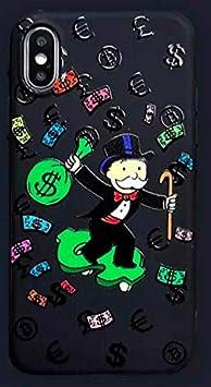 Funda para iPhone XR Monopoly Money Soup Billet Dollars 100 $ Argent USA Negro Carcasa de Moviles Caso Silicón: Amazon.es: Electrónica