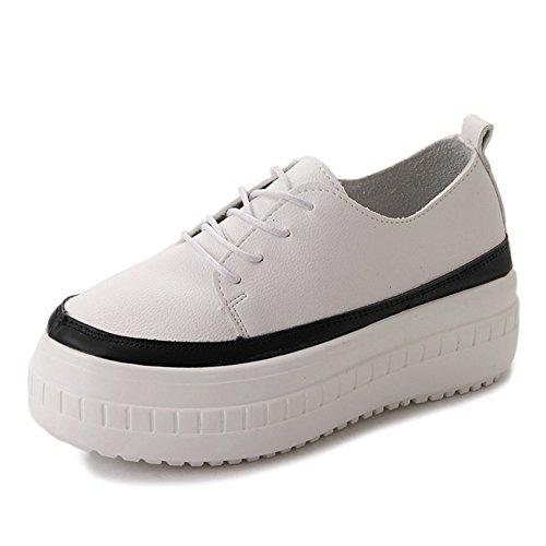 Scarpe Da Suole Spesse Cibandosi Le Donne Allacciano Le Sneakers Casual Moda Nere