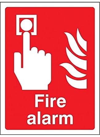Caledonia Signs 11010K Señal de alarma de incendio, plástico ...