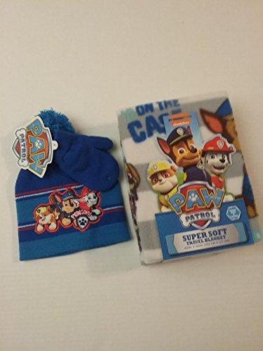 Hot Seller!!!! Paw Patrol 3-Piece Set (40×50 Super Soft Travel Blanket, 2-Piece Beanie Hat and Glove Set)