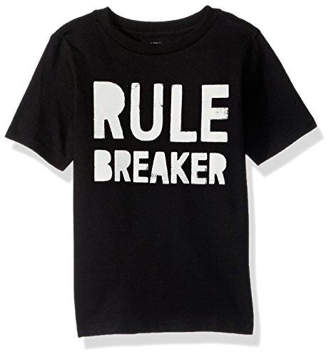 The Children's Place Baby Boys' Short Sleeve Fashion T-Shirt, Black 89216, 3T