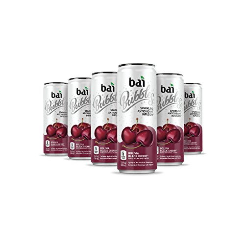 - Bai Bubbles, Sparkling Water, Bolivia Black Cherry, Antioxidant Infused Drinks, 11.5 Fluid Ounce Cans, 12 count