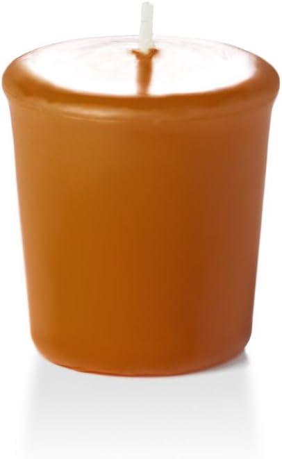 9 per pack Yummi 15hr Unscented Harvest Gold Votive Candles