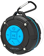 ASIYUN Portable Shower Speaker, RMYU Water Resistant Bluetooth Speakers with IPX7 HD Sound, Suction Cup, Speakers Built-in Mic, Hands-Free Speakerphone for iPhone, iPad iPod and Android Phones