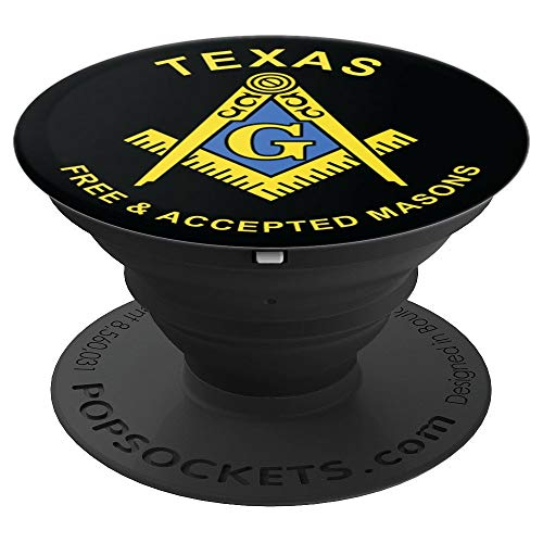 Texas Masonic Square and Compass Freemason Emblem - PopSockets Grip and Stand for Phones and Tablets