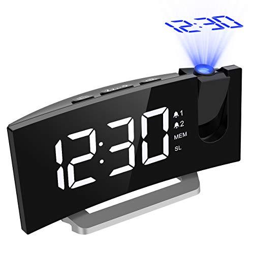 Mejorada 】 Mpow - Radio Despertador con proyección de FM ...