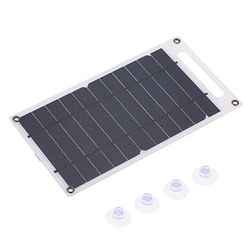 41NiXUgQoTL - Lixada 7.8W Portable Ultra Thin Monocrystalline Silicon Solar Panel Charger USB Port for Cell Phone Outdoor Camping Climbing Hiking