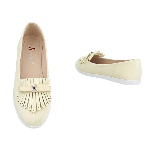Schuhcity24 Damen Schuhe Halbschuhe Slipper Ballerinas Gelb
