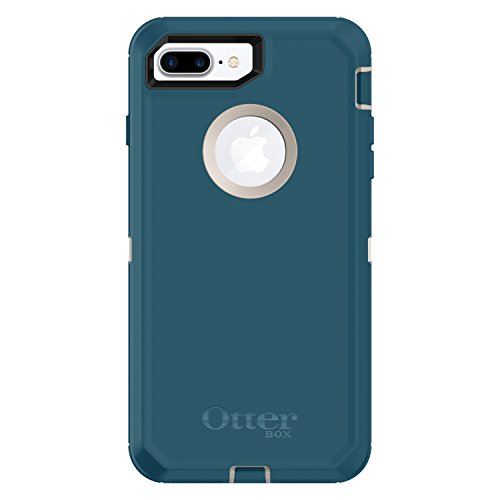 (OtterBox DEFENDER SERIES Case for  iPhone 8 Plus & iPhone 7 Plus (ONLY) - Retail Packaging - BIG SUR (PALE BEIGE/CORSAIR))