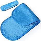 Microfibre Makeup Remover Cloth Face Cleansing Towel 3 Pack (Blue)