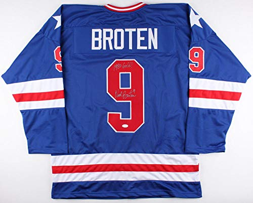 (Neal Broten Autographed Signed Memorabilia Team Usa Hockey Miracle On Ice Jersey Tse North Stars - Certified Authentic)