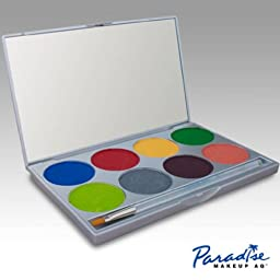 Face Paint Palette with 8 Colors By Paradise Makeup Aq (Tropical)