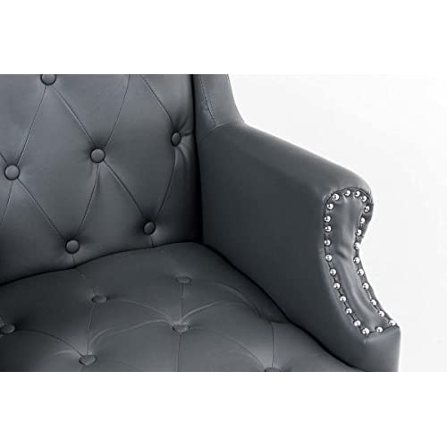 50%OFF CLP Silla de oficina OKLAHOMA con tapizado de cuero sintético ...