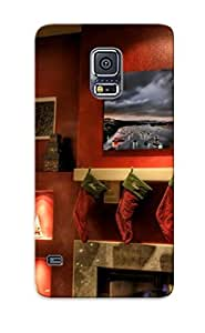 Fashion Tpu Case For Galaxy S5- Christmas Trees Defender Case Cover For Lovers