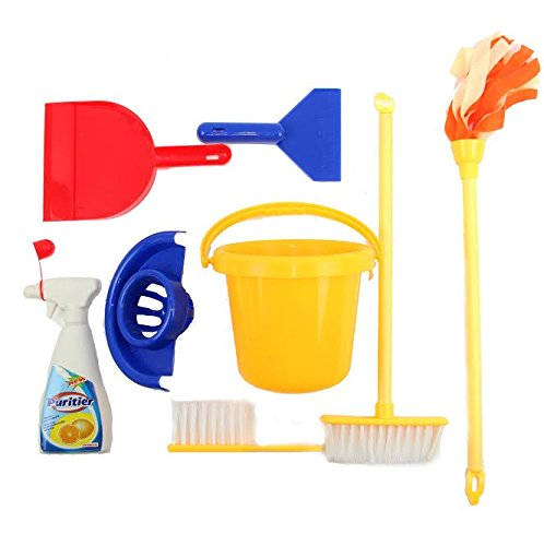 Dazzling Toys Little Mommy Cleaning Set Includes Mini Broom, Dust Brush, Pail and More