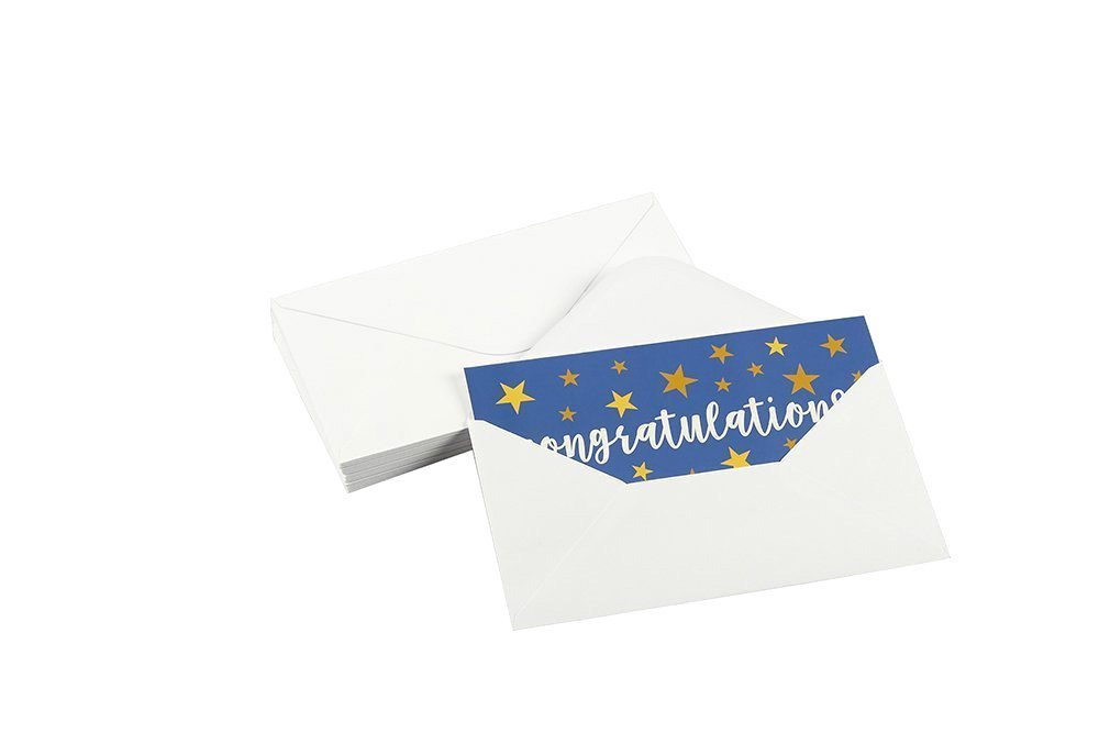 Includes Envelopes 36-Pack 6 Unique Designs Best Paper Greetings Graduation Money Cards