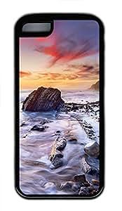 iPhone 5c case, Cute Coastal iPhone 5c Cover, iPhone 5c Cases, Soft Black iPhone 5c Covers