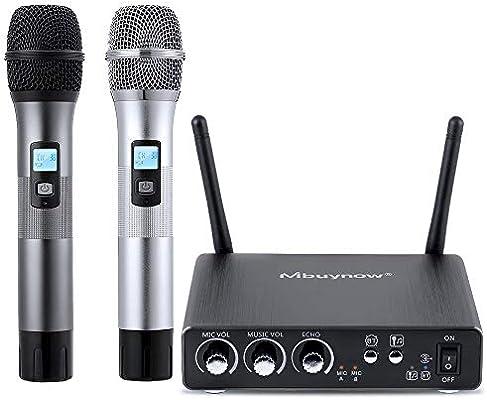2X microfono inalambrico profesional con pilas karaoke  Receptor WIRELESS