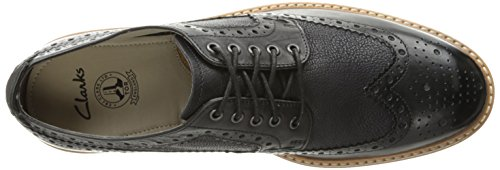 CLARKS Mens Pitney Limit Oxford Black 6meUy
