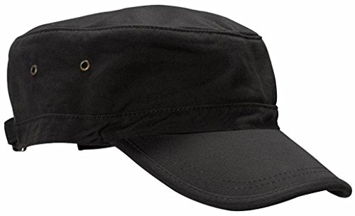 Vivoice Solid Color Unisex Flat Top Army Style Cadet Cap hat Twill Corps Hats(black)