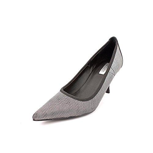 Tahari Dottie Womens Size 6 Silver Textile Pumps Heels Shoes