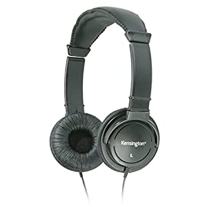 Kensington Hi-Fi On-Ear Headphones with 9-Foot Cord (K33137),Black