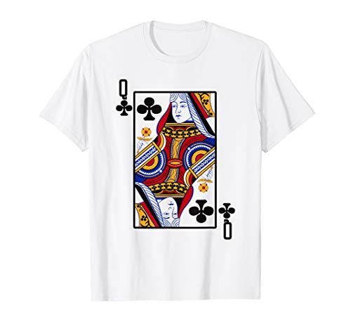 Halloween Playing Card Costume QUEEN of CLUBS shirt