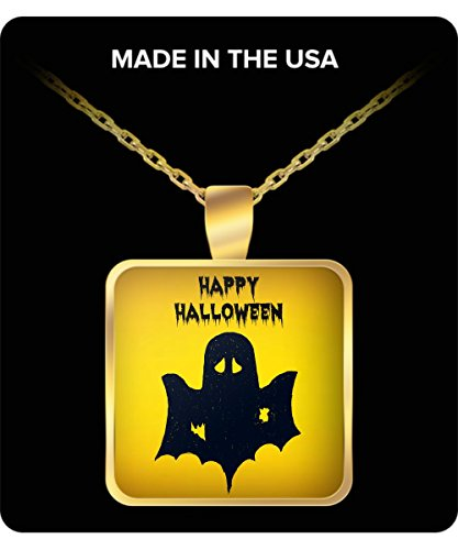 Happy Halloween Ghost Jewelry Necklace Pendant ()