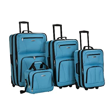 Rockland Luggage Skate Wheels 4 Piece Set, Turquoise, One Size