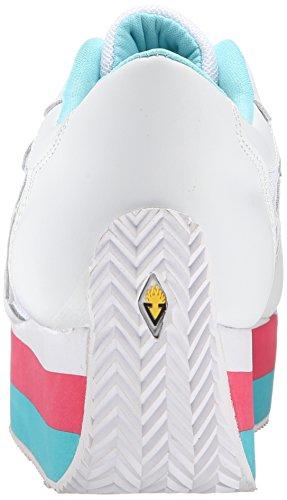 Zapatillas De Deporte Volátiles De Sunset Wedge Platform Con Volantes - Blanco